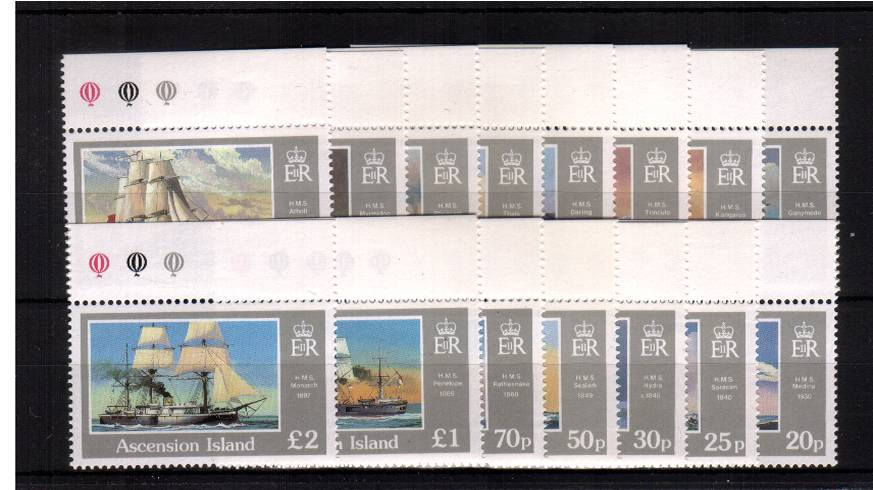 Ships - A superb unmounted mint set of fifteen all identitical top marginals.