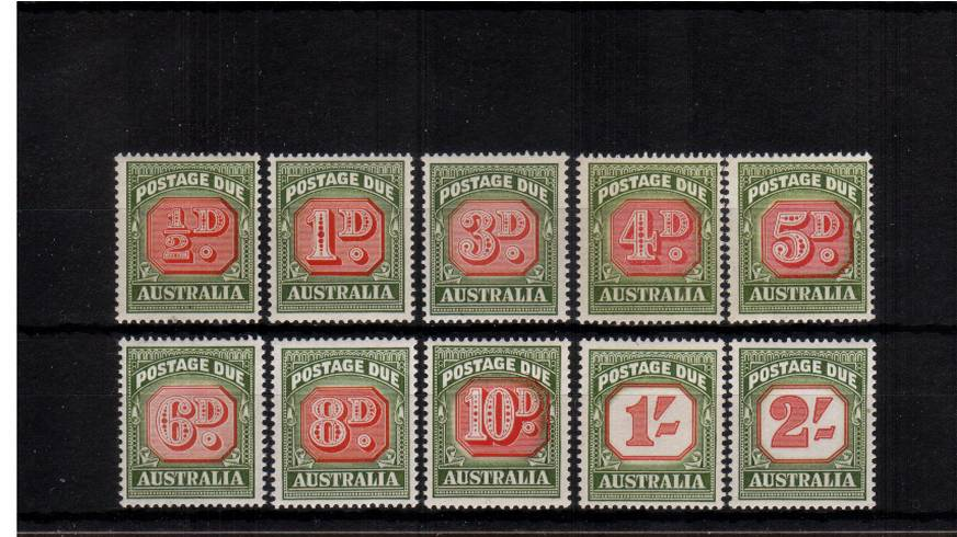 The POSTAGE DUE set of ten superb unmounted mint.