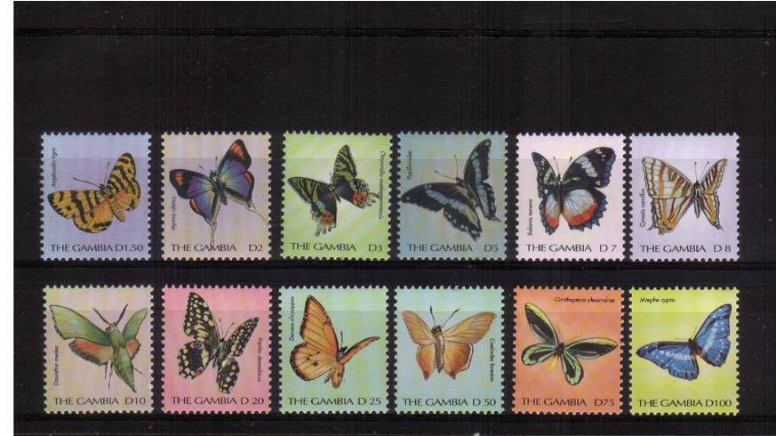 The 2000 ''Butterflies'' definitive set of twelve superb unmounted mint. Actually a rare set never seen by me before!