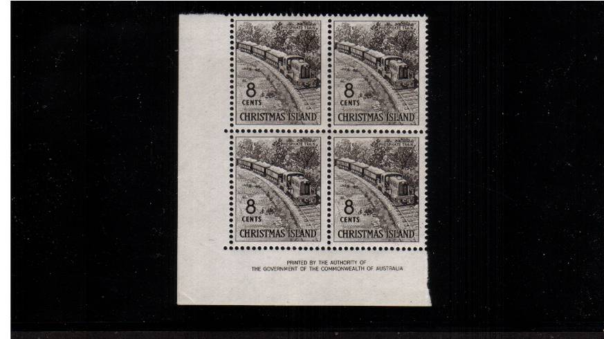 8c Black - Phosphate Train<br/>