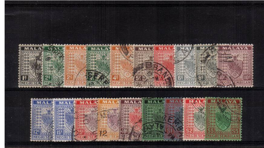 A superb fine used set of nineteen each stamp being a selected example. SG Cat �5