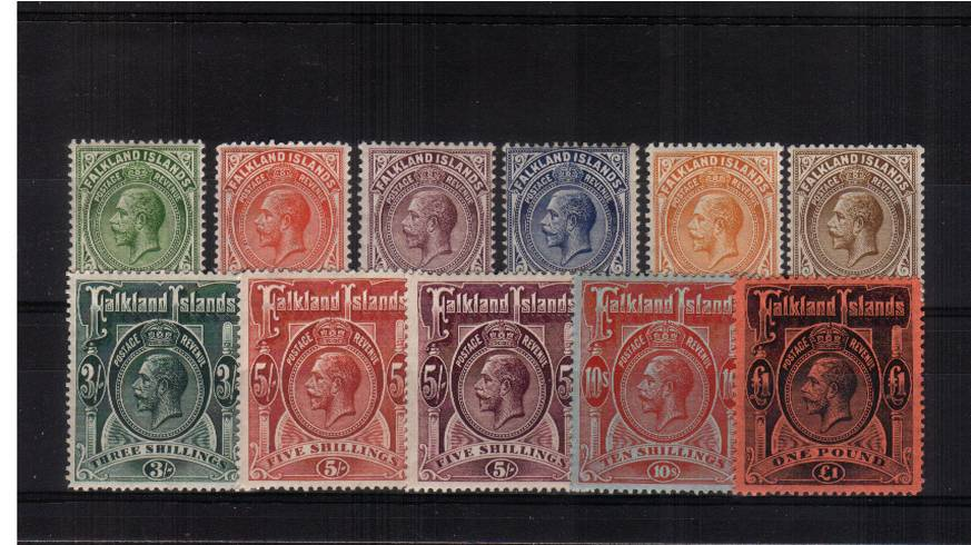 A fine lightly mounted mint set of eleven with the �value with a trace of a hinge mark. Exceptional quality! SG Cat �00