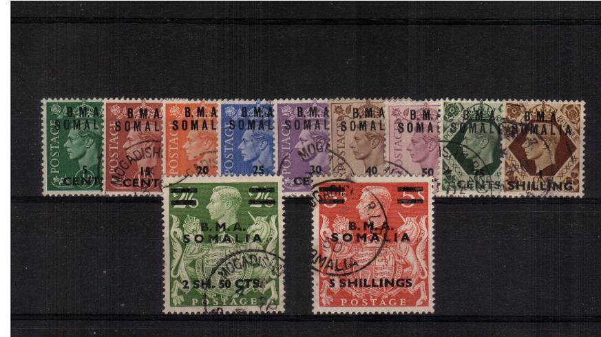 A superb very fine used set of ten. Scarce set genuinely used.