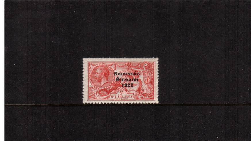 5/- Rose-Carmine ''Seahorse'' - Wide date<br/>