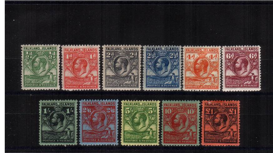 The famous ''Penguin and Whale'' set of eleven very,very lightly mounted mint. Fine and fresh. SG Cat �0