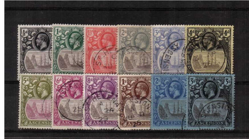 A superb fine used set of twelve with several cancelled with a ST HELENA CDS's. SG Cat �0
