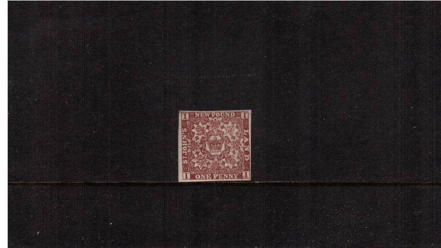 1d Brown-Purple - Imperforate<br/>