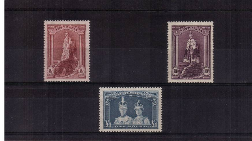 The ''Thin rough ordinary paper'' set of three superb unmounted mint. SG Cat �5+