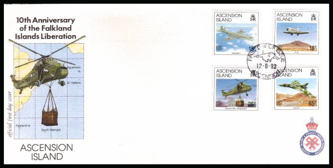 10th Anniversary of Falkland Island Liberation set of four on an unaddressed Official First Day Cover