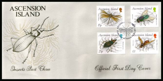 Insects - 3rd Series set of four on an unaddressed Official First Day Cover