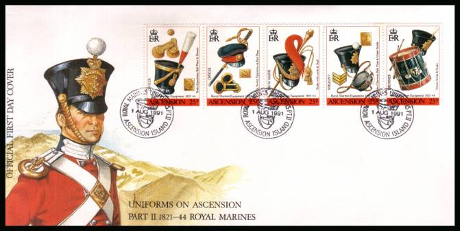 Royal Marines Equipment 2nd Issue strip of five  on an unaddressed Official First Day Cover