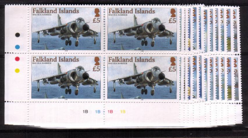 The Aircraft definitive set of twelve superb unmounted mint cylinder blocks of four.