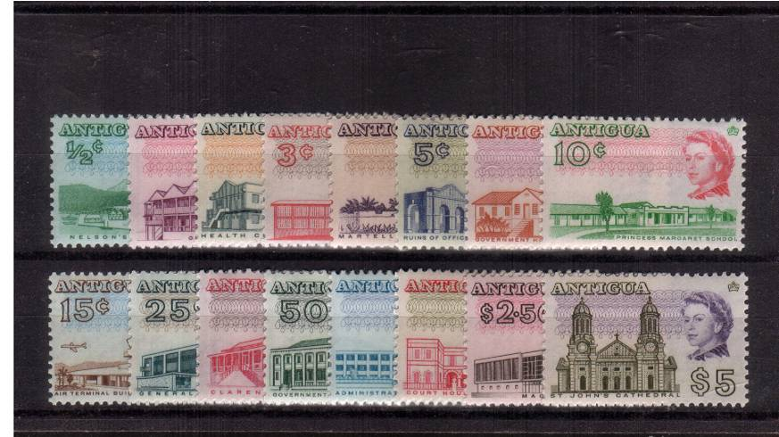A fine very lightly mounted mint set of sixteen.