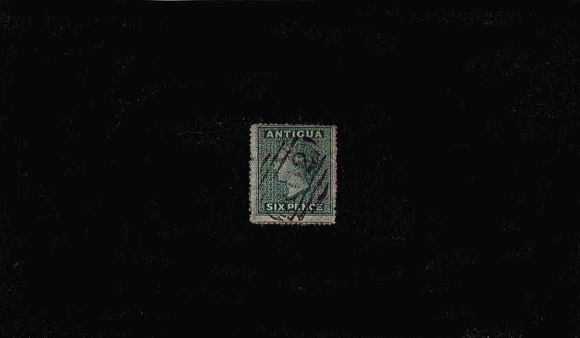 6d Blue Green - No Watermark - Rough Perf 14 to 16<br/>