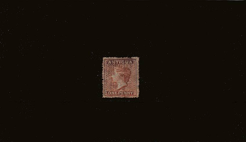 1d Dull Rose - Watermark Small Star - Rough Perf 14 to 16<br/>