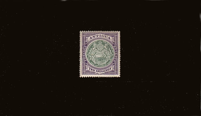 2/- Grey-Green and Violet - Watermark Multiple Crown CA<br/>