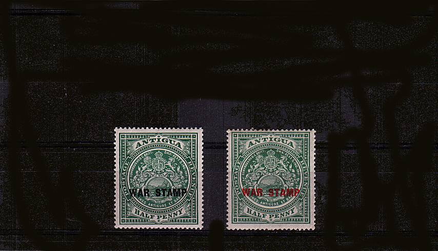 The ''WAR STAMP'' set of two lightly mounted mint.