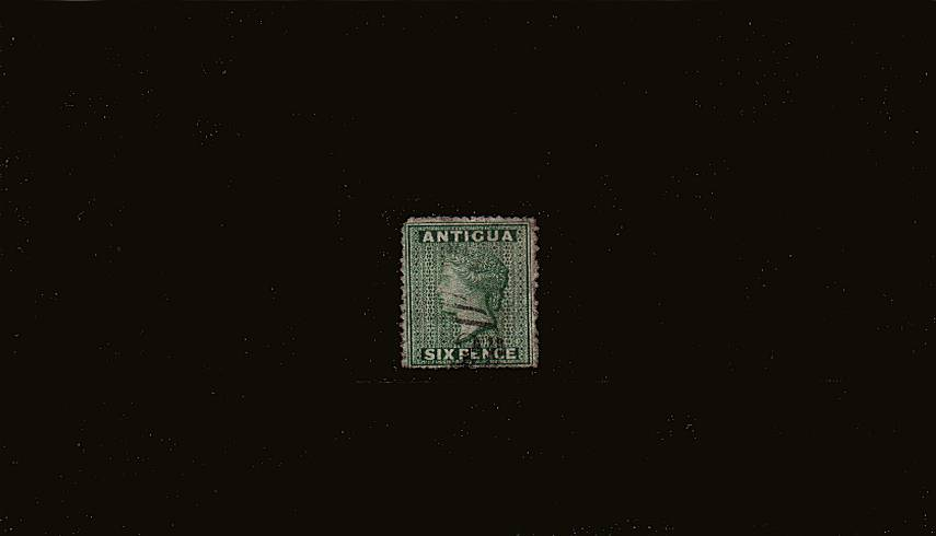6d Yellow-Green - Watermark Small Star.<br/>