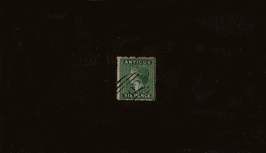 6d Dark Green - Watermark Small Star.<br/>