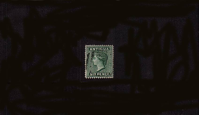 6d Deep Green - Watermark Crown CA - Perforation 14<br/>