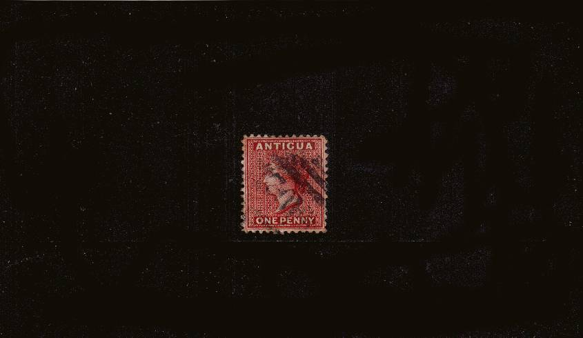 1d Carmine-Red - Watermark Crown CA - Perforation 12<br/>