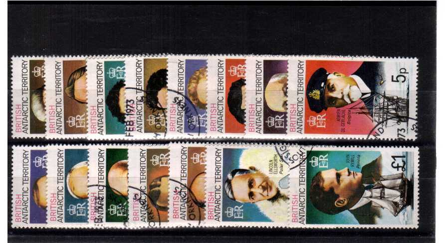 ''Explorers'' A superb fine used set of fifteen.<br/><b>ZKR</b>