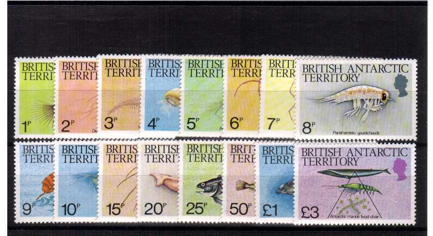 Marine Life - Superb unmounted mint set of sixteen