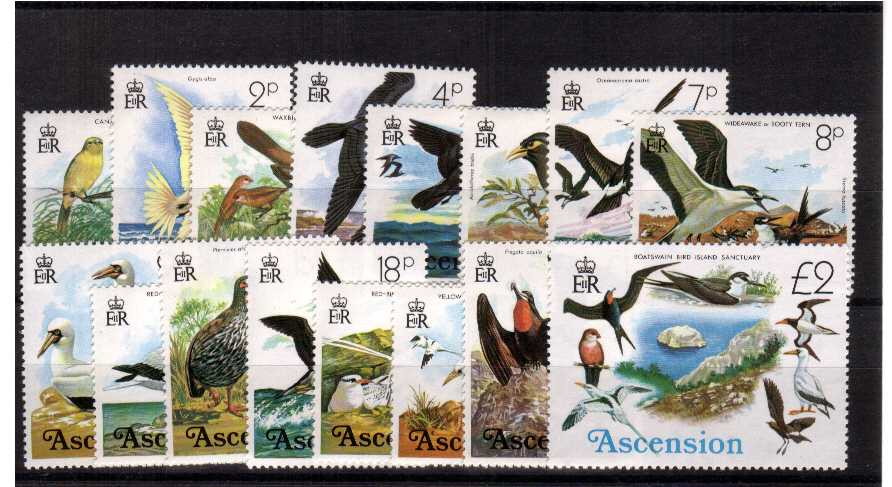 Birds - superb unmounted mint set of sixteen