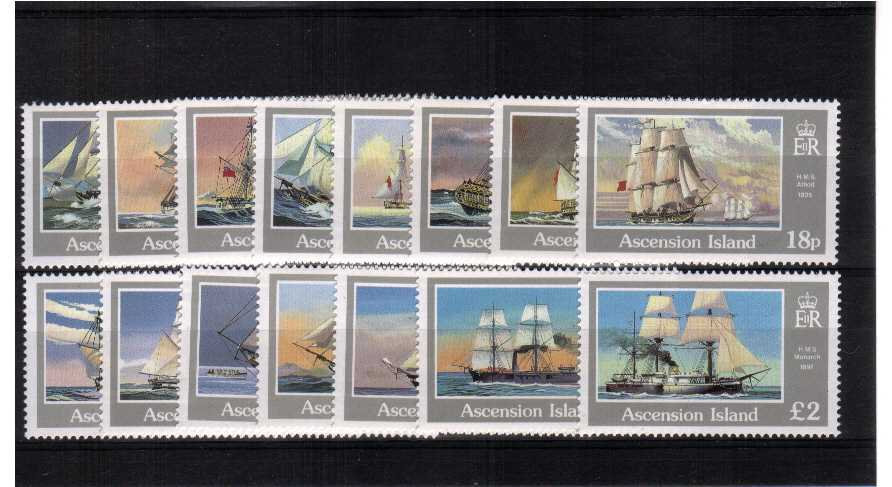 Ships - A superb unmounted mint set of fifteen.<br><b>ZDZ</b>
