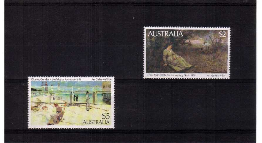 superb unmounted mint set of two