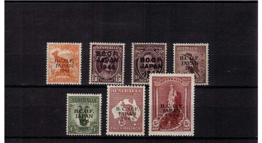 A fine lightly mounted mint set of seven.<br><b>ZKR</b>