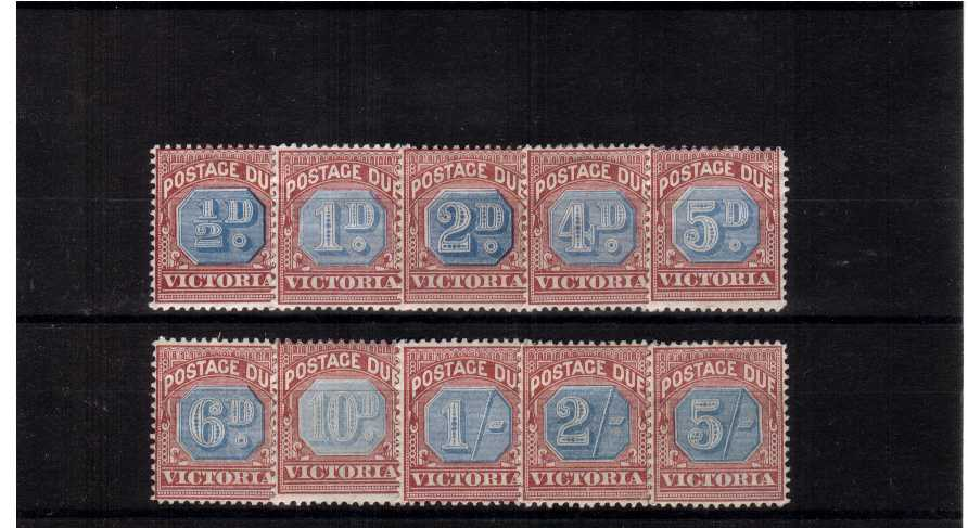 VICTORIA STATE - Postage Due set of 10 in fine mounted mint condition