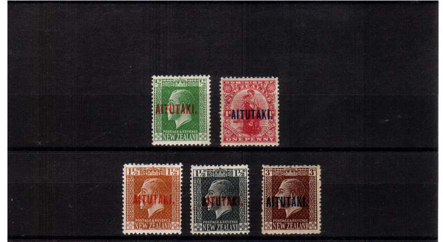 A superb unmounted mint set of five.<br/><b>QBQ</b>