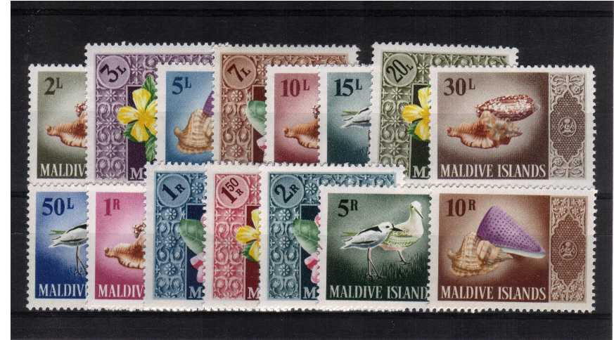 Birds and Seashells set of fifteen superb unmounted mint
