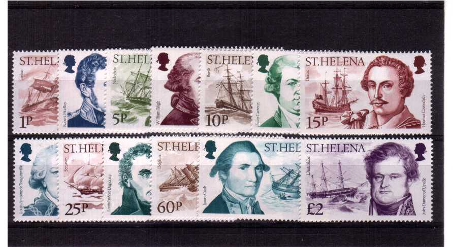 Explorers and Ships<br/>A superb unmounted mint set of thirteen.<br/><b>QMQ,</b>