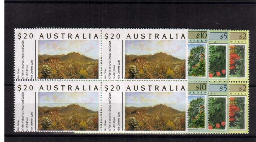 Superb unmounted mint set of four in blocks of four.